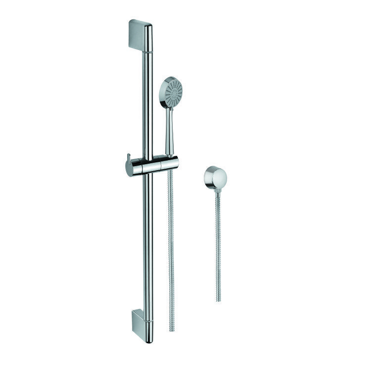 GEDY SUP1103 SUPERINOX CHROME HAND SHOWER, SLIDING RAIL, AND WATER CONNECTION