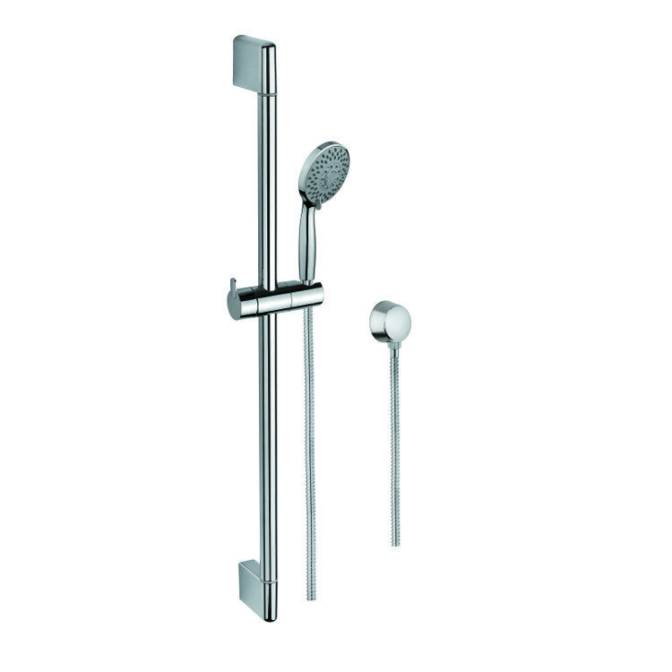 Gedy Sup1104 Superinox Hand Shower Sliding Rail And Water Connection In Chrome
