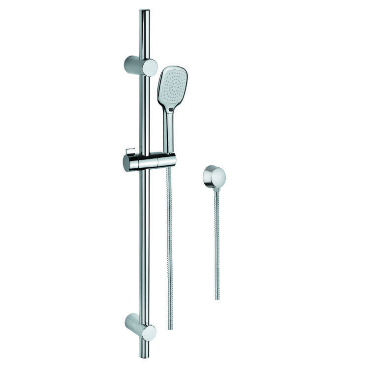GEDY SUP1117 SUPERINOX POLISHED CHROME HAND SHOWER, WATER CONNECTION, AND SLIDING RAIL
