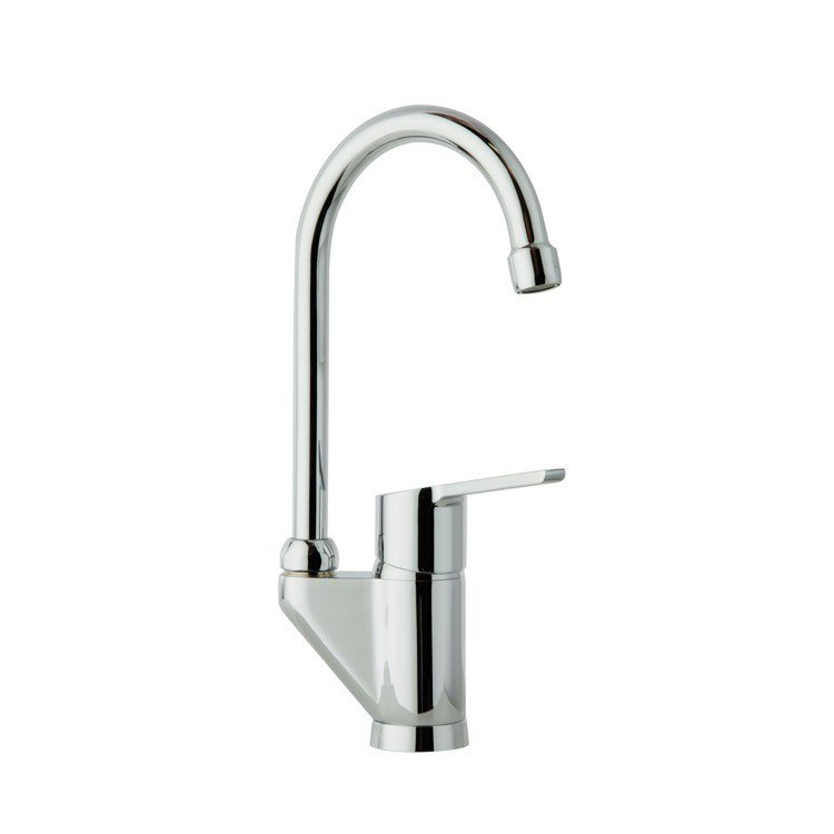 Ramon Soler US-5506Y Aquanova Fly Kitchen Sink Single Hole Faucet with 360 Swivel Spout in Chrome