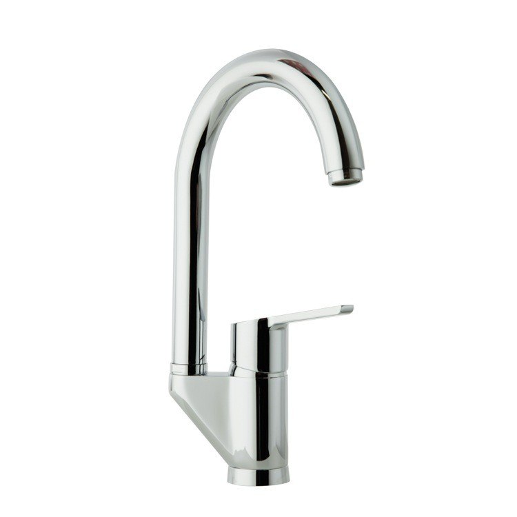 Ramon Soler US-5526Y Aquanova Fly Swivel Spout Kitchen Sink Faucet with 360 Swivel Spout in Chrome
