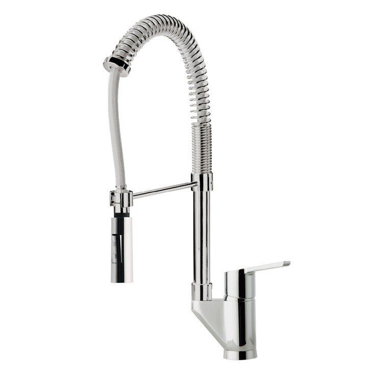 Ramon Soler US-5566Y Aquanova Fly Single Hole Kitchen Sink Faucet with Swivel Spout in Chrome