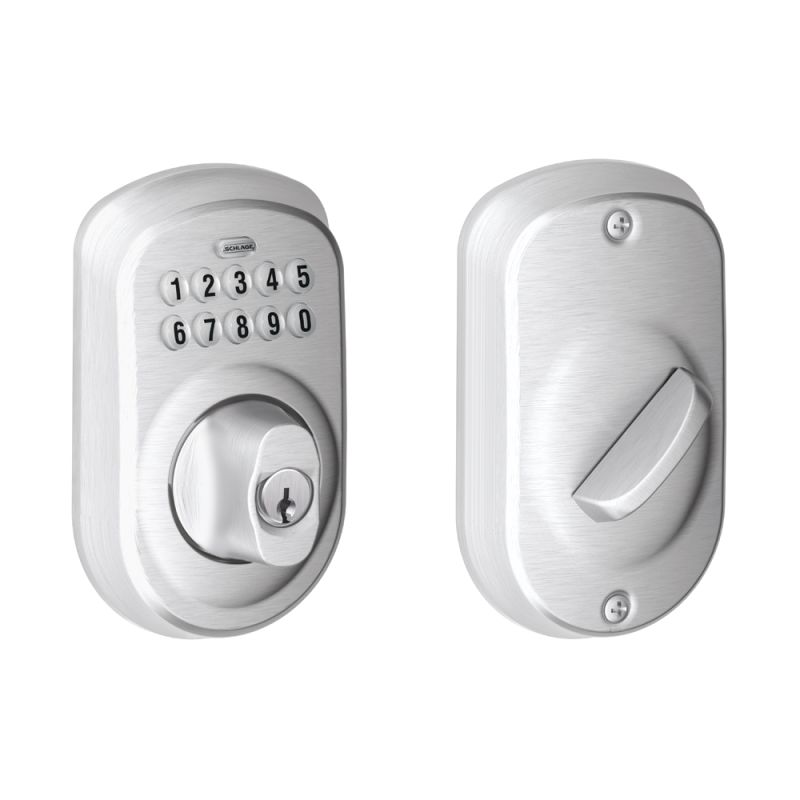 Schlage BE365PLY Plymouth Electronic Keypad Single Cylinder Deadbolt