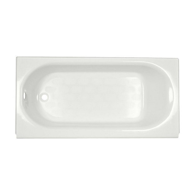 American Standard 2390.202 Princeton 60 x 30 Inch Metal Integral Apron Bathtub with Drain and Overflow, Left Hand Outlet, for Alcove Installation