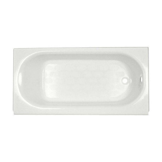 American Standard 2391.202 Princeton 60 x 30 Inch Metal Integral Apron Bathtub with Drain and Overflow, Right Hand Outlet, for Alcove Installation