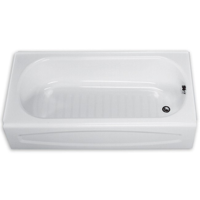 AMERICAN STANDARD 0255.212.020 NEW SALEM 60 X 30 INCH STEEL INTEGRAL APRON BATHTUB, LEFT HAND OUTLET, FOR ALCOVE INSTALLATION