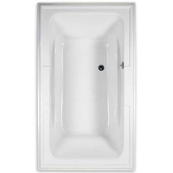 AMERICAN STANDARD 2742.002 TOWN SQUARE 72 X 42 INCH ACRYLIC BATHTUB WITH BACKRESTS, FOR DROP-IN OR ALCOVE INSTALLATION