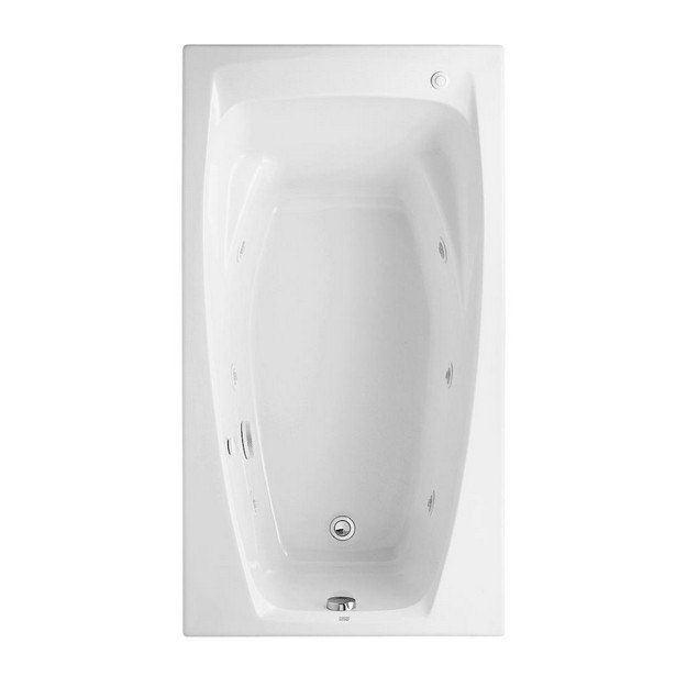 AMERICAN STANDARD 2675.018.020 COLONY 60 X 32 INCH ACRYLIC WHIRLPOOL, FOR DROP-IN OR ALCOVE INSTALLATION