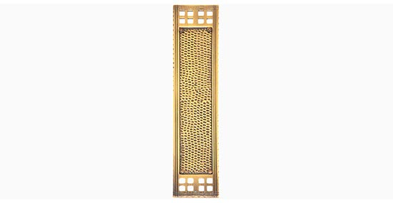 BRASS Accents A05-P5350 Arts and Crafts Push Plate 2-1/2 x 11-1/4 Inch