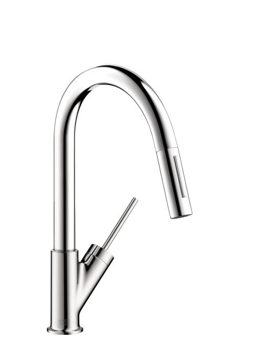 HANSGROHE 10824 AXOR STARCK PREP KITCHEN FAUCET WITH PULL-OUT SPRAY