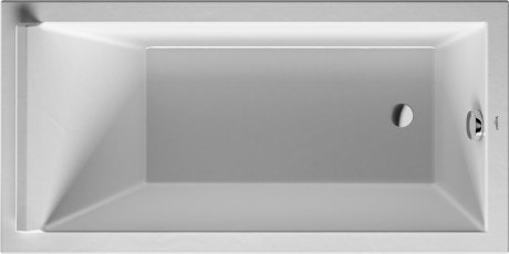 Duravit 700332000000090 Starck New 59 x 29-1/2 Inch Rectangle Base Bathtub, Built-In or for Panel, with One Backrest Slope