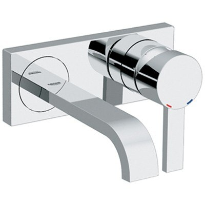 Grohe 1930000a Allure Two Hole Wall Mount Bathroom Faucet S Size 1930000a 19 300 00a