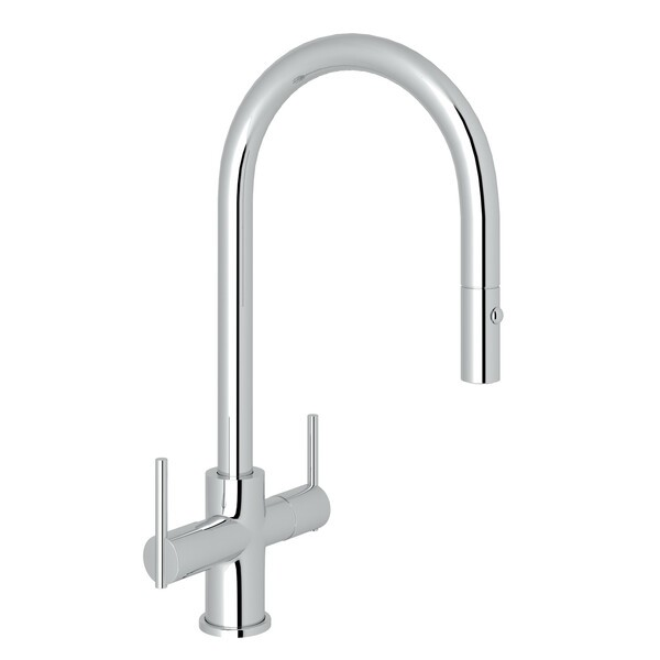 ROHL CY657L-2 PIRELLONE 16 INCH SINGLE HOLE PULLDOWN KITCHEN FAUCET WITH METAL LEVER HANDLE