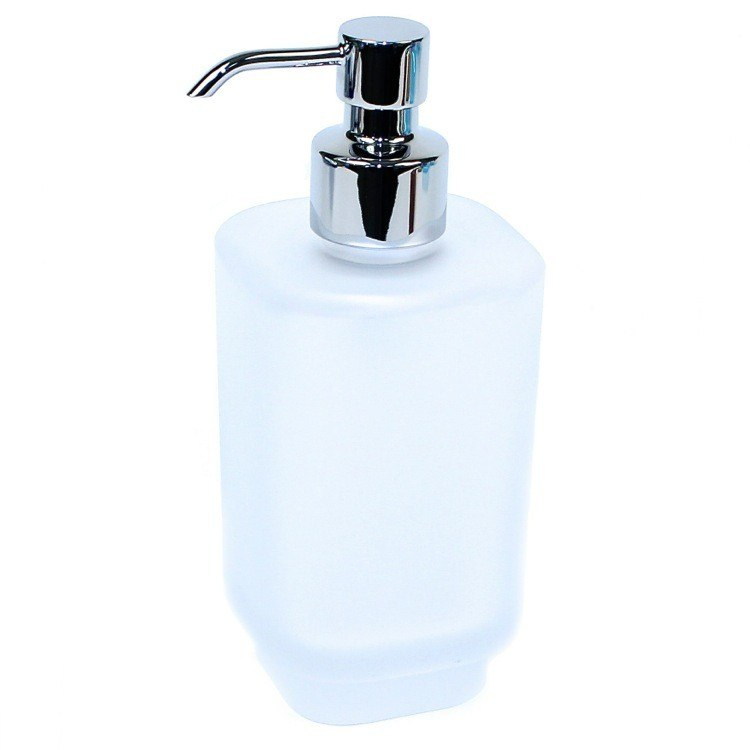GEDY 1081-S2 JOY FROSTED GLASS SOAP DISPENSER