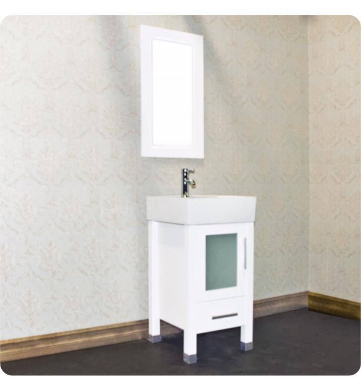 8137w 18 Inch Free Standing Wood And Porcelain Single Sink