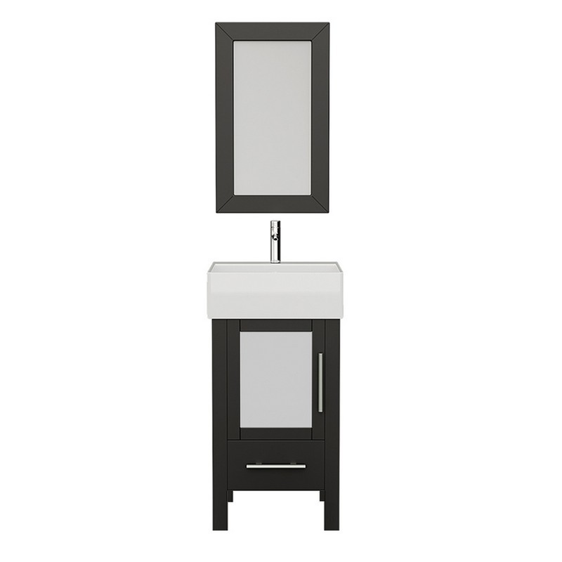 Solid Wood Bathroom Vanity Set Single Sink, Espresso Wood Vanity Set