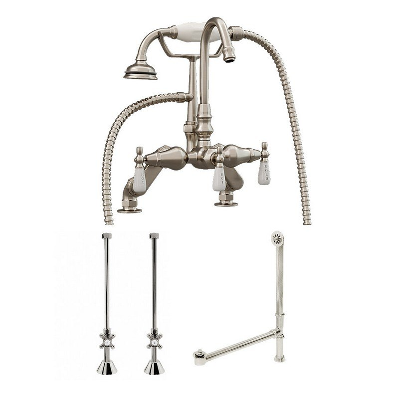 Cambridge Plumbing Cam684d Pkg Cp Complete Package For Claw Foot Tub Goosneck Faucet Supply Lines With Shut