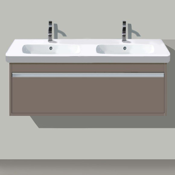 Superbe DURAVIT KT666901818 KETHO 45 4/5 X 17 7/8 INCH DOUBLE SINK VANITY UNIT WALL  MOUNTED FOR D CODE 034812 WASHBASIN,.