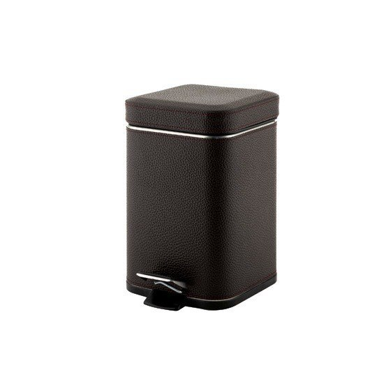 GEDY 2209-19 ARGENTA SQUARE WASTE BIN WITH PEDAL