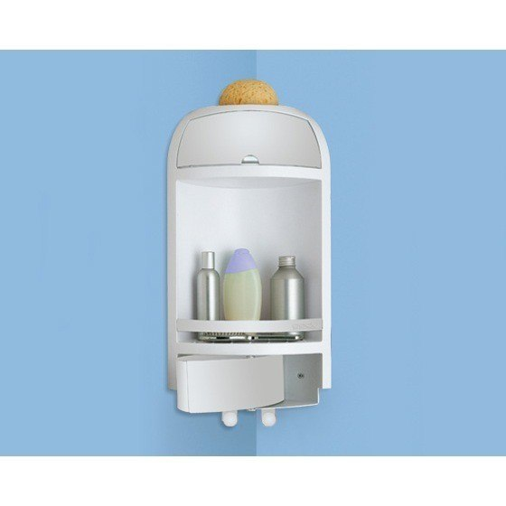 GEDY 2880-02 COMPLEMENTI DOCCIA CORNER SHOWER CADDY WITH DRAWER