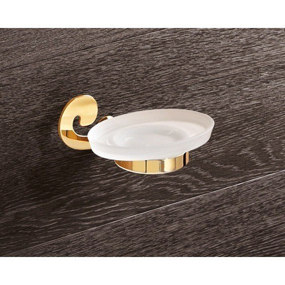 GEDY 3311-87 SISSI WALL MOUNTED FROSTED GLASS SOAP HOLDER