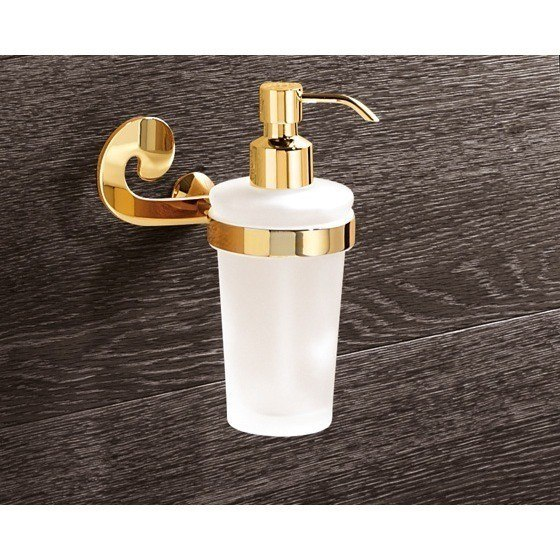 GEDY 3381 SISSI WALL MOUNTED ROUND FROSTED GLASS SOAP DISPENSER