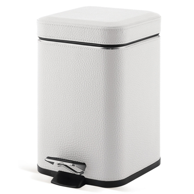 GEDY 2209-02 ARGENTA SQUARE WASTE BIN WITH PEDAL