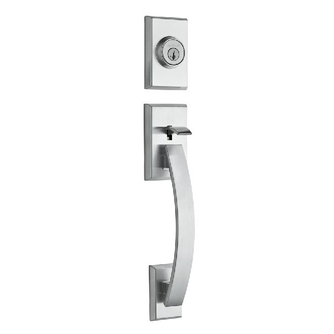KWIKSET 800TVHLIPS SIGNATURE SERIES TAVARIS SINGLE CYLINDER SECTIONAL CONTEMPORARY HANDLESET WITH SMARTKEY, EXTERIOR ONLY