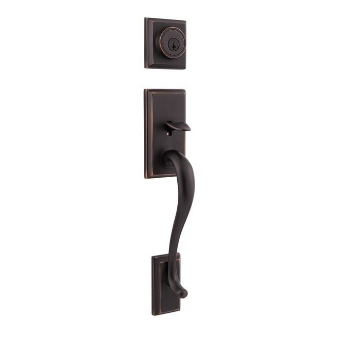 KWIKSET 801HELIPS SIGNATURE SERIES HAWTHORNE DOOR LOCK HANDLESET