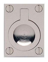 OMNIA 9587 SERIES CABINET HARDWARE MODERN RECTANGULAR DROP RING