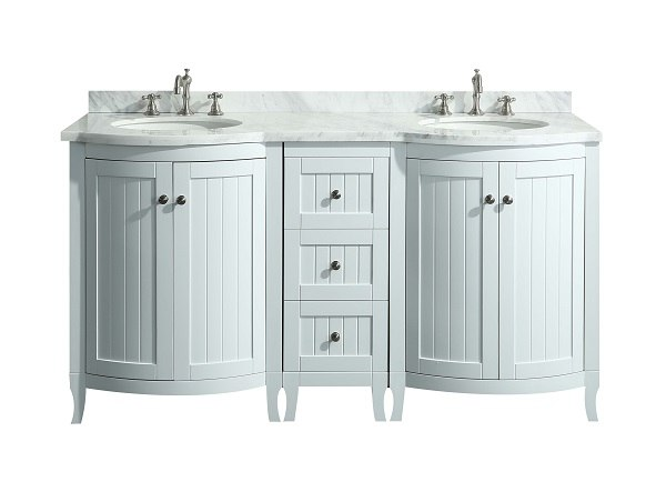 Odessa Zinx 60 Inch Bathroom Vanity, 12 Inch Bathroom Sink