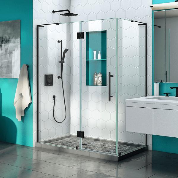 Dreamline Shen 1434460 Quatra Plus 34 X 46 72 Frameless Hinged Shower Enclosure
