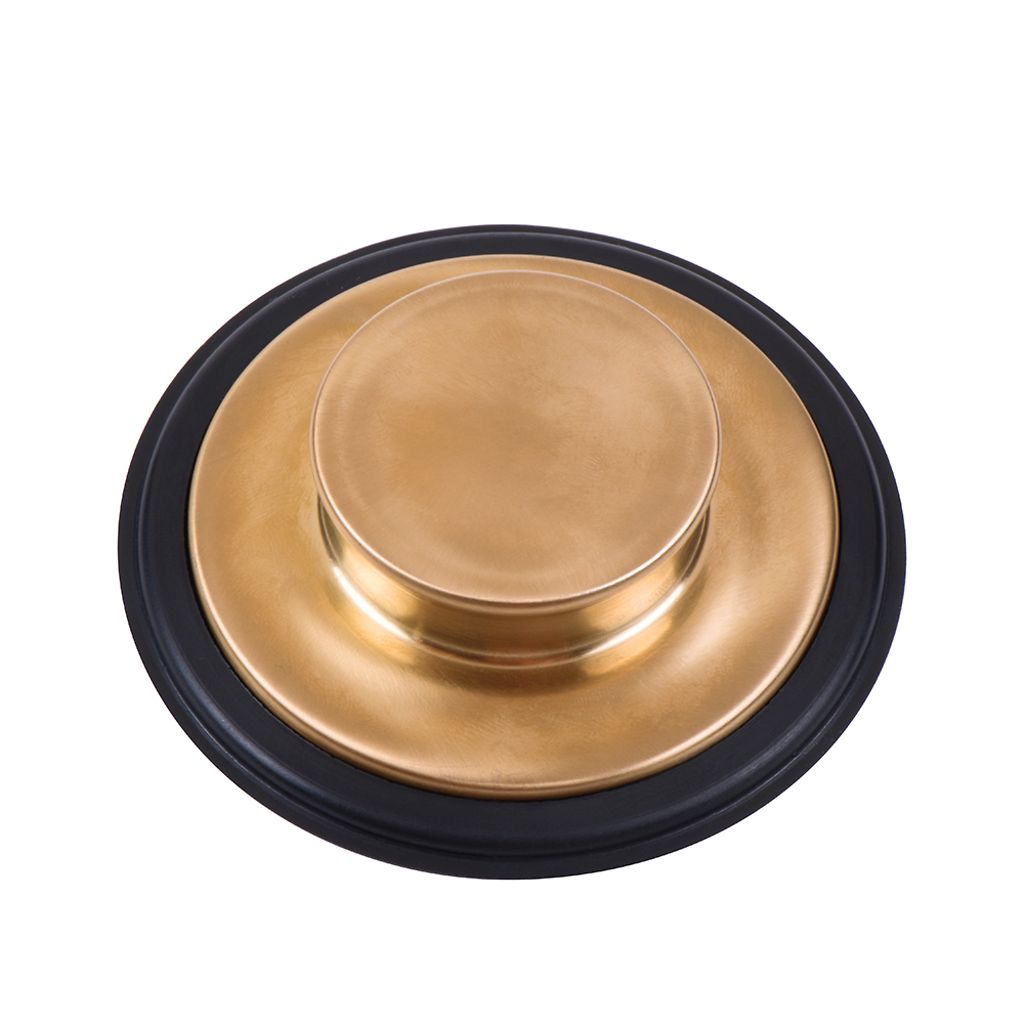 Picture of: Insinkerator Stp Bb Universal Sink Stopper For Garbage Disposal Disposer Flange Brushed Bronze