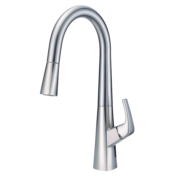 Danze D454418ss Vaughn Single Handle Kitchen Pull Down Kitchen Faucet With Snapback And Dockforce 1 75 Gpm