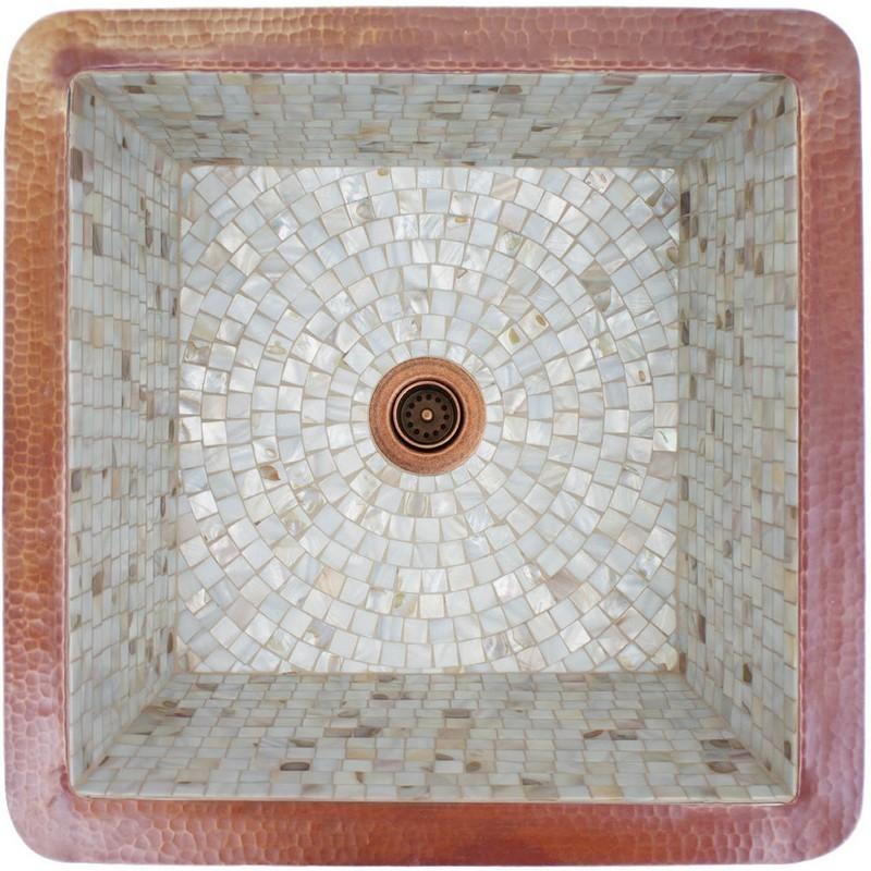 Linkasink V019 Wc Mosaic 20 Inch Large Square Drop In Or Undermount Bathroom Sink Linkasink V019 Db Mosaic 20 Inch