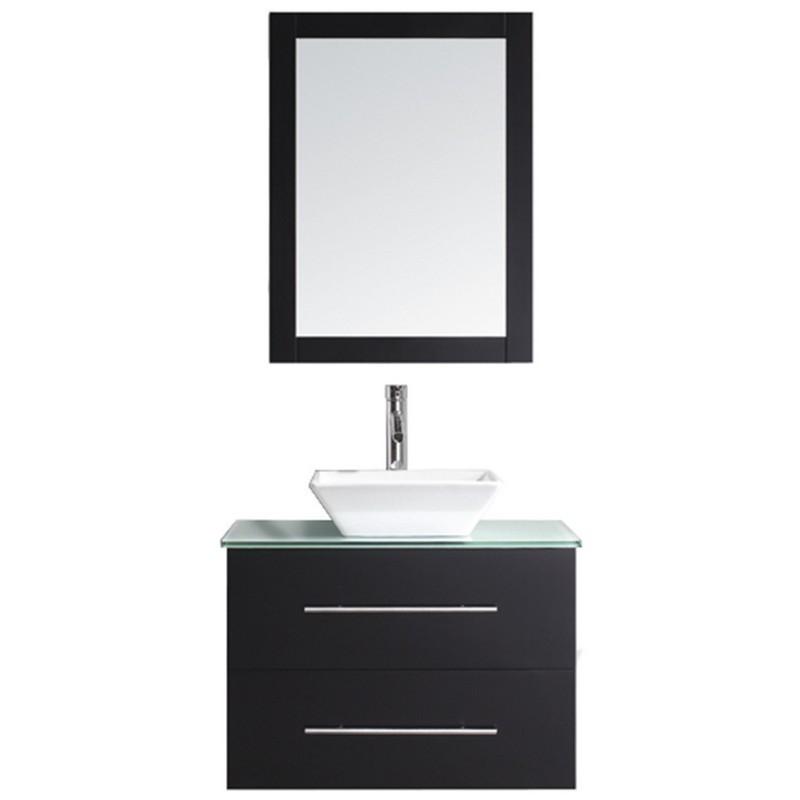Bath Vanity With Aqua Tempered Gl
