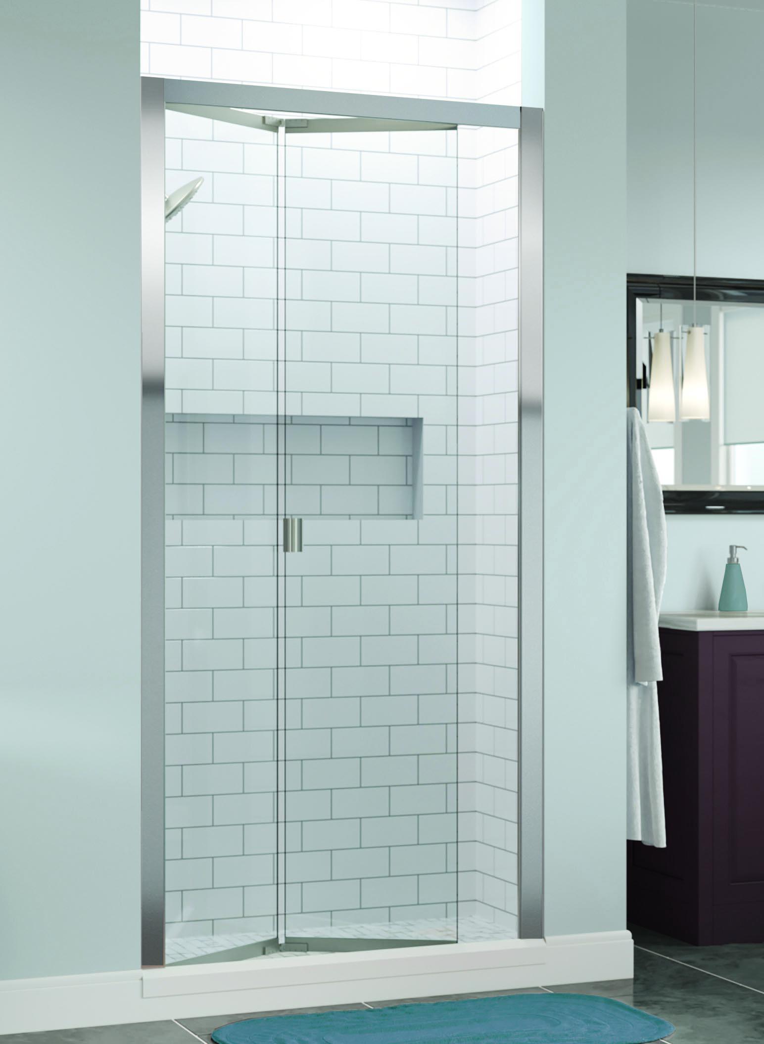 Basco Infh11a3172 Infinity 29 0625 31 Inch Opening Semi Frameless Bifold Shower Door