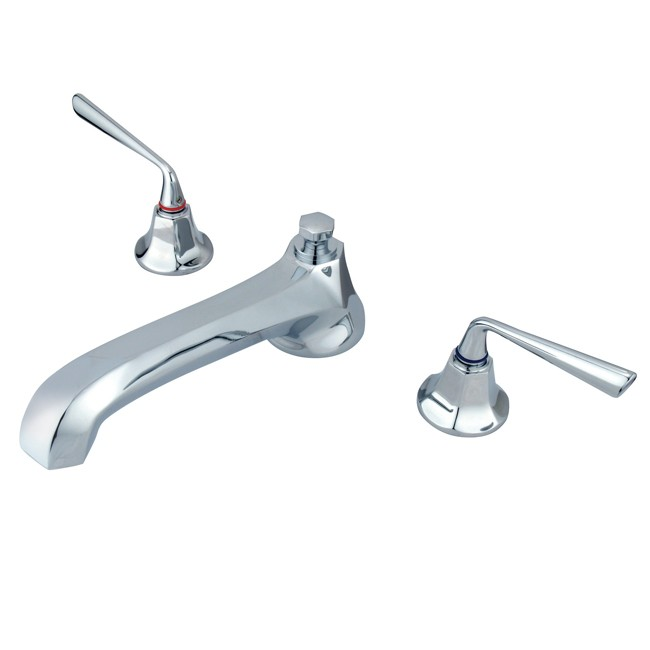 Kingston Brass Ks4308zl Silver Sage Roman Tub Filler Faucet Satin Nickel