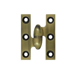 Deltana OK2015U26-L Solid Brass 2-Inch x 1//2-Inch Olive Knuckle Hinge