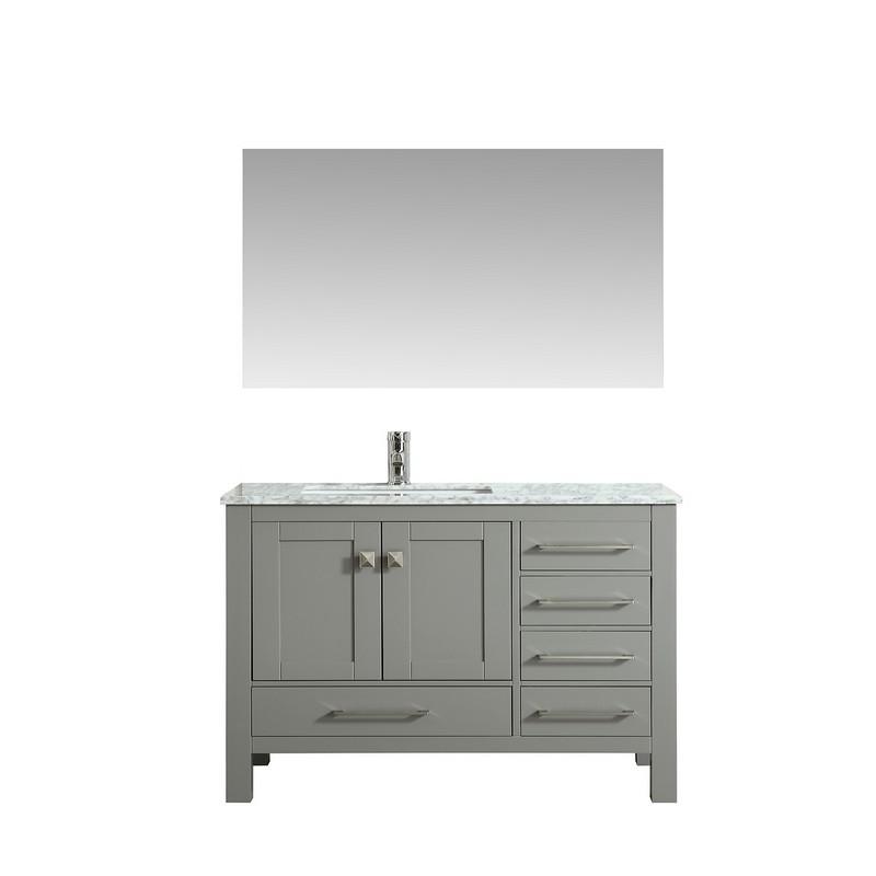 Eviva Tvn414 42x18 London 42 Inch Transitional Bathroom Vanity With White Carrara Marble Countertop Espresso