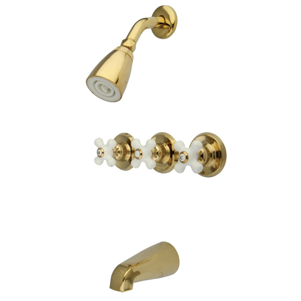 Kingston Brass KB231PX Tub and Shower Faucet Polished Chrome