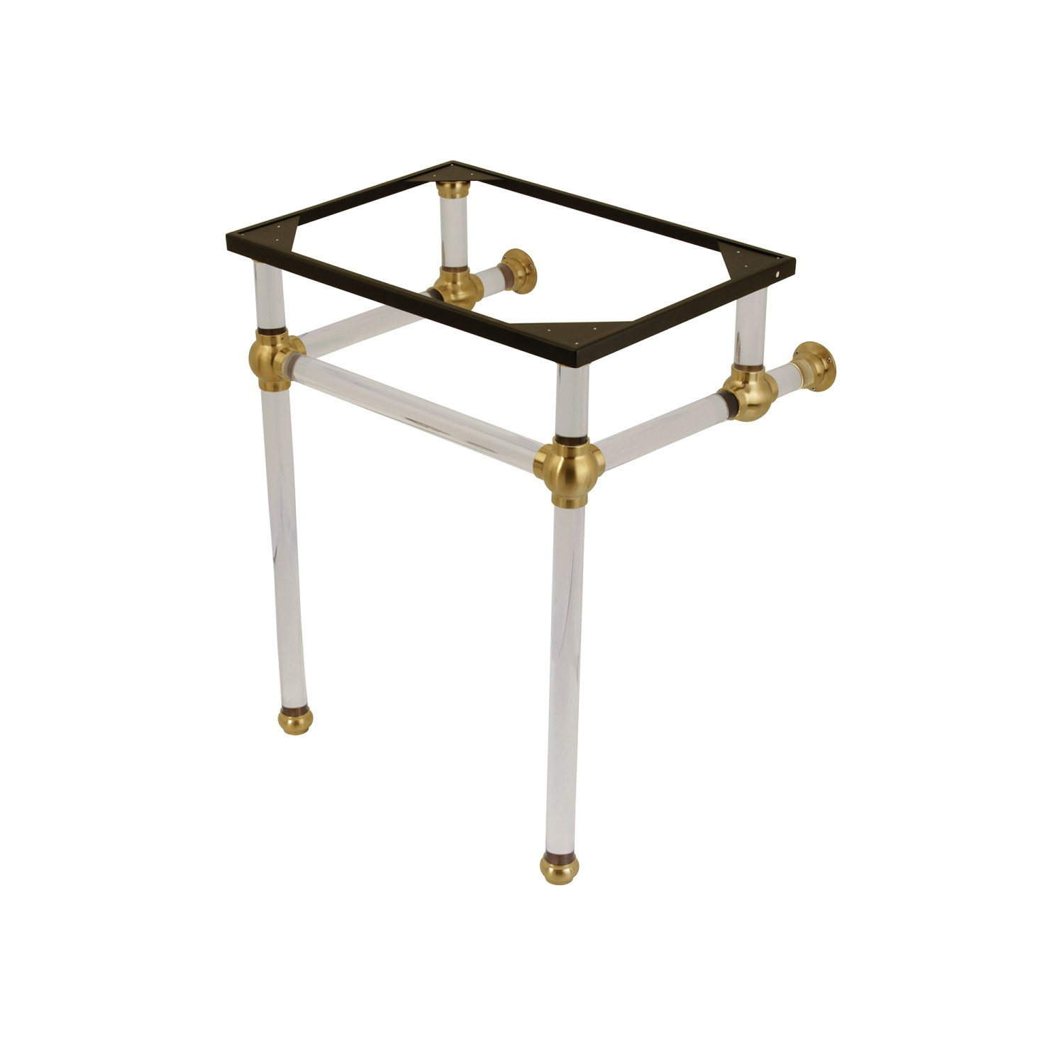 Kingston Brass Vah242030sb Fauceture Templeton Console Basin Holder With Acrylic Pedestal Brushed Brass