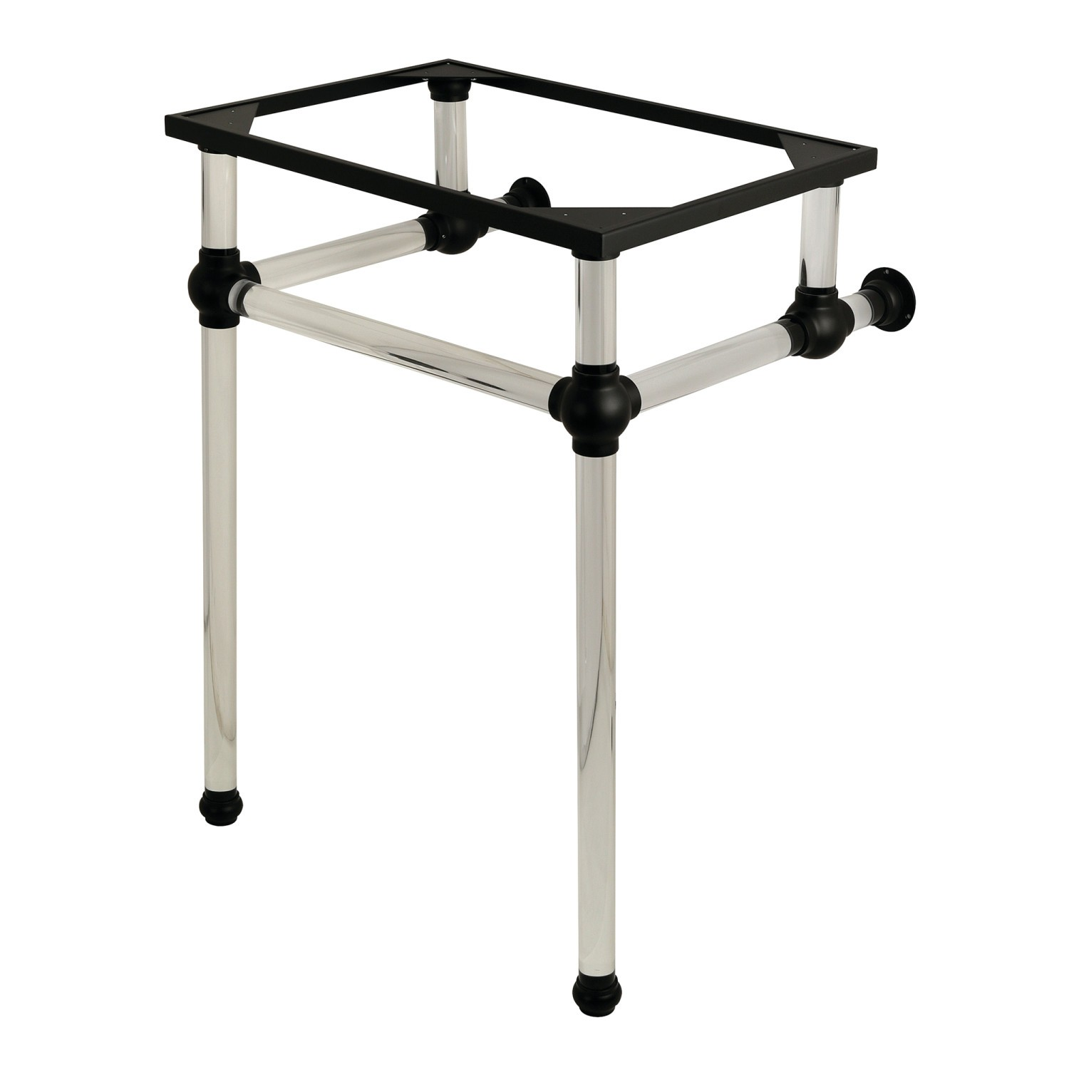 Kingston Brass Vah282033c Fauceture Templeton Console Basin Holder With Acrylic Pedestal Kingston Brass Vah282033mb