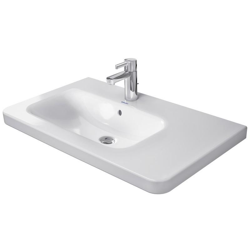 Duravit 2325800000 Durastyle 31 1 2 X 18 7 8 Inch Deck Mounted Bathroom Sink Left Side Bowl With Overflow Duravit