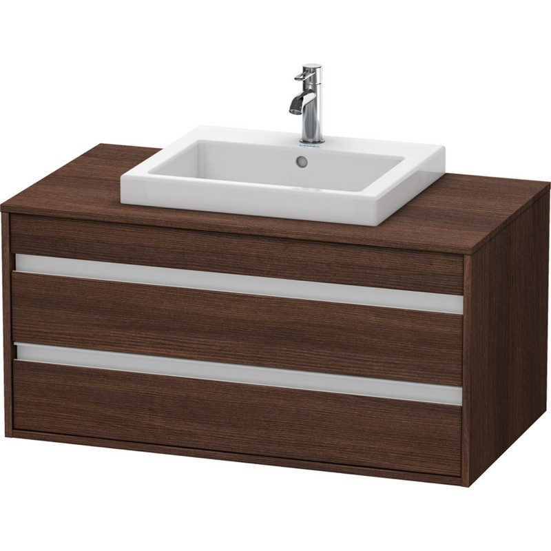 Duravit 0337540030 D-Code Three-Hole Countertop Vanity Basin White Finish