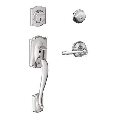 SCHLAGE RESIDENTIAL F62CAMBIR F SERIES CAMELOT X BIRMINGHAM DOOR LOCK  HANDLESETS