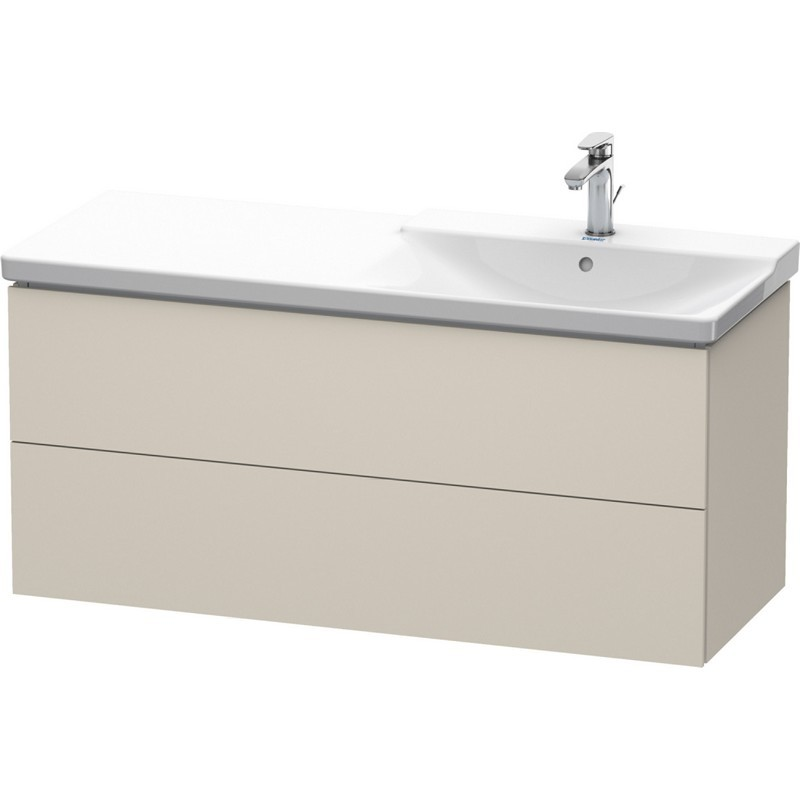 Duravit Lc625509191 L Cube 48 X 19 Inch Vanity Unit Wall Mounted With Two Drawers Basin Right Duravit Lc625500303