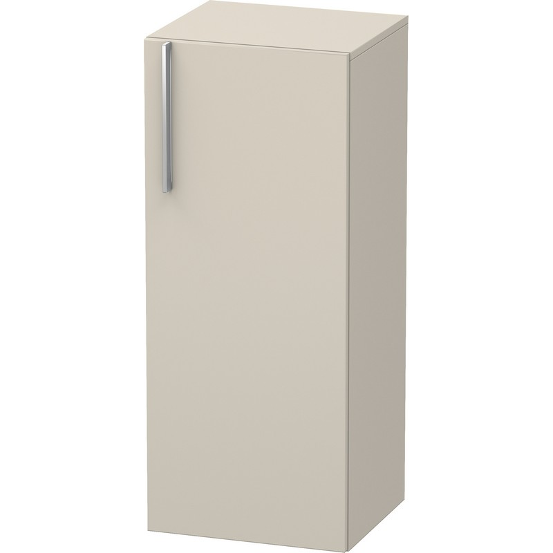 DURAVIT VE1106R9191 VERO 15-3/4 X 14-1/8 INCH SEMI-TALL CABINET WITH WOODEN DOOR AND TWO GLASS SHELVES