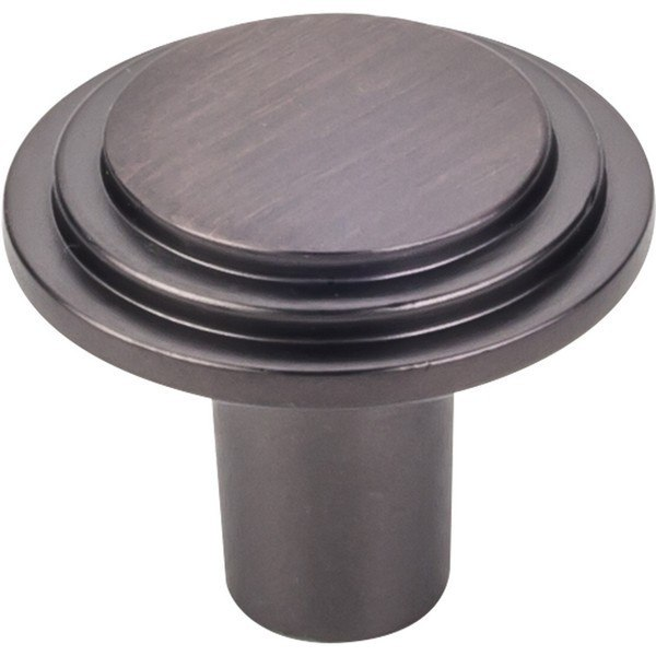 HARDWARE RESOURCES 331L ELEMENTS CALLOWAY COLLECTION 1-1/4 INCH DIAMETERMETER STEPPED ROUNDED CABINET KNOB