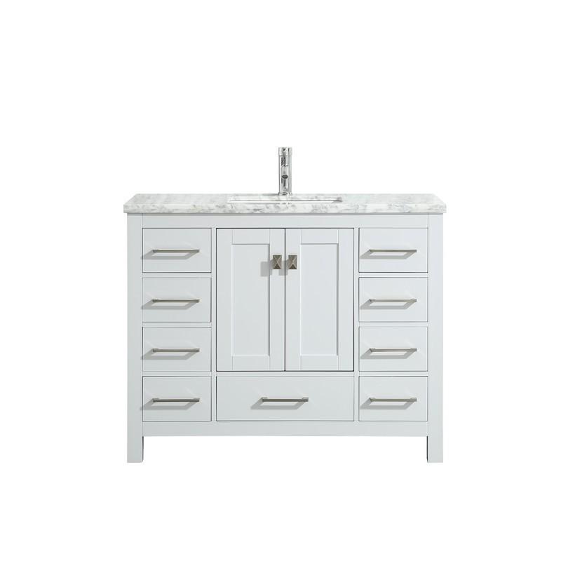White Carrara Marble Countertop, Bathroom Vanity 48 X 18